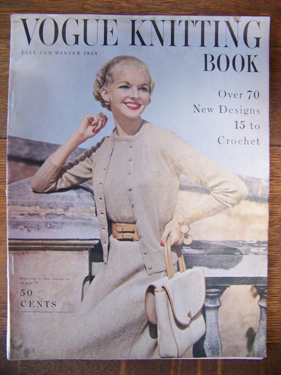Vintage Vogue Knitting Pattern Books : Vintage Vogue Knitting Book 1954 Fall and Winter.Vintage ...