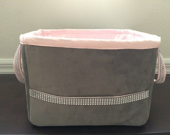Diaper Caddy - Lux Baby Pink Sparkle