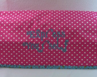Cricut Expression Dust Cover Quilted Embroidered Cover for Cricut Cutter Ready to Ship