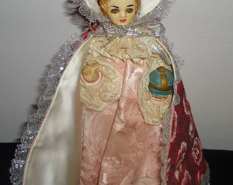 Vintage Infant of Prague Chalkware with robes