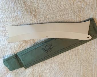 Antique 10 Pc Unused Package Mens Reversable Stiff Collars