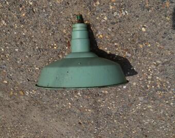 Mill Salvage. Green Barn Light.  Vintage Street Light Shade.  Newmarket, NH.  - VS6