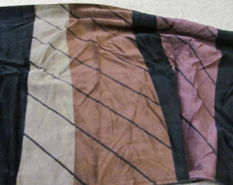 """Fabric Black Brown Velour Plush Velvet Feel Soft Fabric Yardage - 44"""" x 50"""" total"""