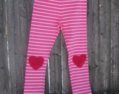 SALE Love Heart Valentines Leggings Ready to ship 5T