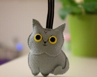 British Shorthair and Persian cat plush keyring