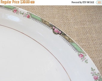 On Sale Antique Art Deco Inspired Platter, Art Nouveau, Shabby Chic, Cottage Chic, Replacement China