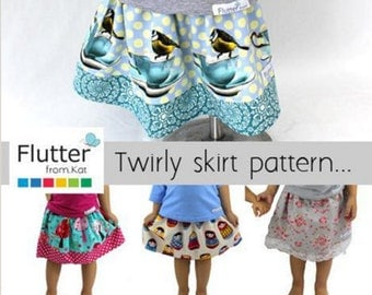 Rotary cutter girls skirt pattern