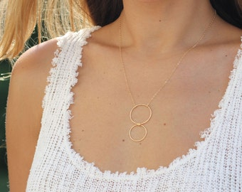 Minimal Gold Circle Necklace, Eternity Necklace, Delicate Gold Pendant Necklace, Dainty Necklace, Simple Everyday Jewelry, Gift for Her