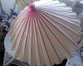 Paper and Bamboo Parasol. Paper Umbrella. Vintage :)IO