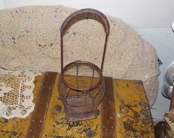 Metal Round Smaller Basket with Hande