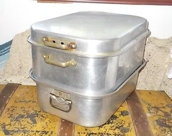 Wear-Ever Aluminum 4 piece Roaster Steamer /Not Included in Sale a New Listing /Siof
