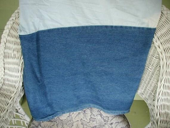 vintage ralph denim bed skirt calif king size