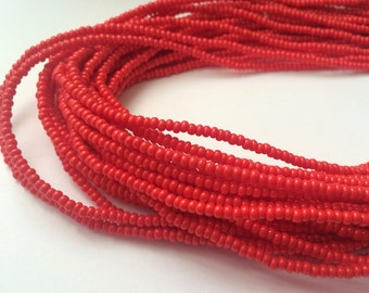 Red African Waistbead (Thin)