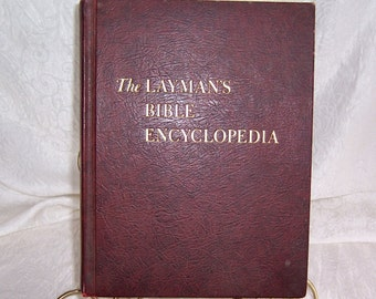 1964 The Laymans Bible Encylopedia, Reference by Words, Religious Books, Books on Faith, Worship Book,  Christianity Book