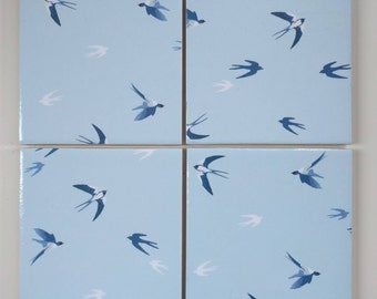 Ceramic Coasters in Sophie Allport Little Swallows
