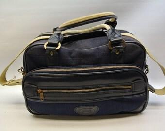 Navy blue canvas bag by Verdi