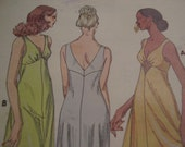 Vintage 1970's Kwik Sew 875 Nightgown Sewing Pattern, All Sizes