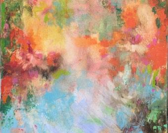 "Modern Art-- Archival Print of original oil painting-- ""Azaleas"""