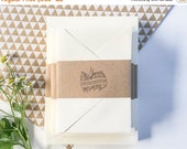 ON SALE Invitation and RSVP card blanks - flat note cards and envelopes available in sets of 25 - 80 lb cover - paper source - invitation pa