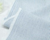 Blue Stripes Cotton Fabric - 57 Inches Wide - By the Yard 88694