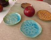 2 Small Ceramic Plate, Housewarming gift, Handmade Plate, Unique Ceramic Plate, Small Serving Dishes, Set of 2 Small Plates