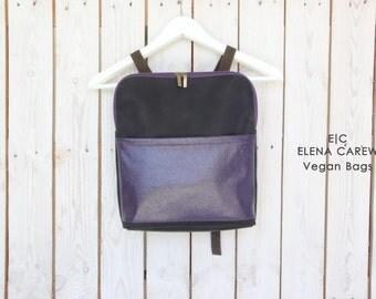 Vegan Leather backpack women, Purple purse, Square backpack, Backpacks for women, Sumer backpack women