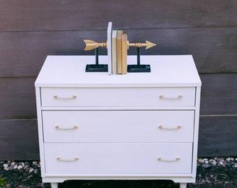 Mid Century Small White Dresser