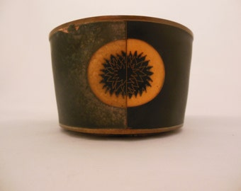 Vintage Mid Century Modern Copper and Enamel Bowl