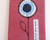 Pink Cotton Covered Appliqued Note Book