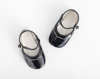 Vintage Mary Janes in Black Patent