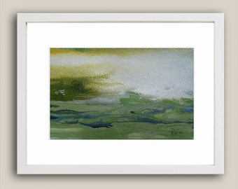 Original Abstract Landscape Painting, Art Painting, Original Painting, Watercolor Painting, Green Painting, Christmas Gift for Her
