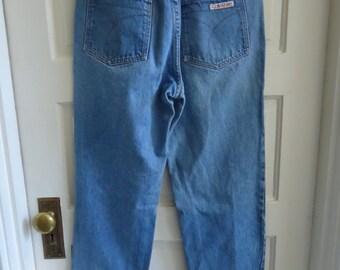 """Vintage 80s CALVIN KLEIN Sport Lightwash Denim Jeans sz 30"""" Waist"""