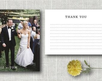 Wedding Thank You Cards - Photo Wedding Thank You Modern Thank You Card - Printable DIY