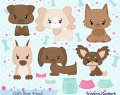 INSTANT DOWNLOAD, dog clipart and vectors for crafts and products