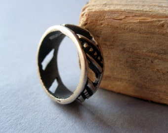 India Silver Ring.