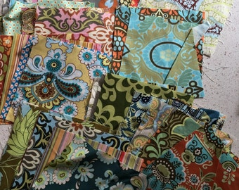 Amy Butler PRE CUT 6x6 inch Quilting Squares 6 INCH Some Belle Nigella Fabric 6""