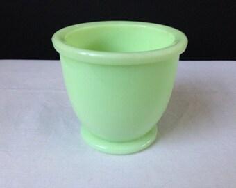 """McKee - Egg Cup - Jadeite - Single Dish - 3"""""""