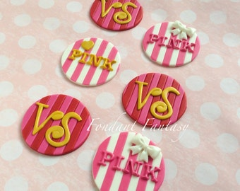 PINK Fondant Cupcake Toppers
