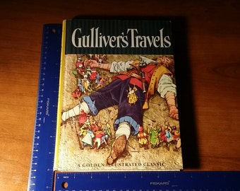 Gulliver's Travels a golden Illustrated classic by Jonathan Swift illustrated by Maraja second printing 1966