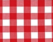 Standard, Mini, Pack N Play Crib Sheet or Changing Pad Cover - 1 Inch Buffalo Check in Red and White
