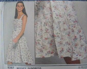 vintage 1970s Simplicity ESP sewing pattern 8387 misses sun dress size 8/10/12