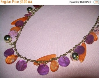 SALE 60% Off Vintage dangling bead chain necklace, jewelry necklace, bead necklace, hippie boho