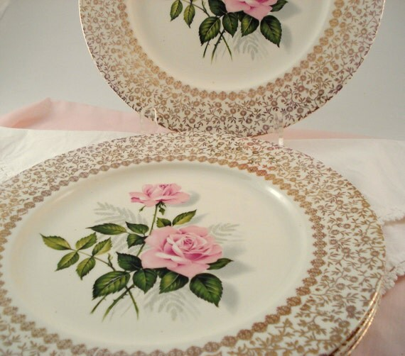 Vintage Wedding Dinner Plates Taylor Smith Taylor Classic Pink
