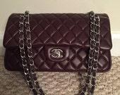 Adorable  small CC bag in dark burgundy