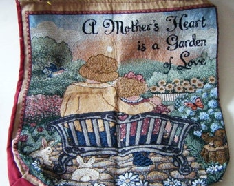 "25% Off Storewide Sale Beautiful ""A Mother's Heart Is A Garden Of Love"" Tapestry Tote"