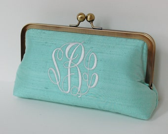 Personalized clutch,bridesmaid clutch, monogrammed clutch , wedding clutch,personalized gifts, personalized brides