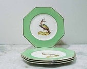 Chinoiserie Hollywood Regency Bird Plates England