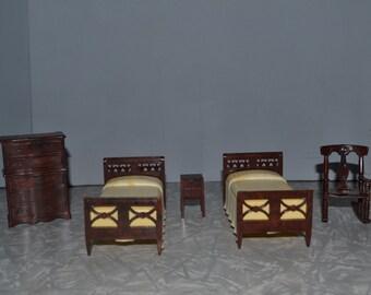 Renwal Bedroom Set ~ Renwal Bed ~ Renwal Dresser ~ Dollhouse Furniture ~ Epsteam