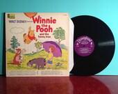 Winnie the Pooh And The Honey Tree Walt Disney Album Vinyl Record LP 1965 Gatefold Illustrated Storybook Very Good + Condition Vintage