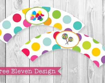 Candyland PRINTABLE Cupcake Wrappers